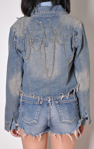 b96a0e3a34a chain jacket #DIY Fringe Jacket, Jean Jackets, Denim Jackets, Denim Fashion,