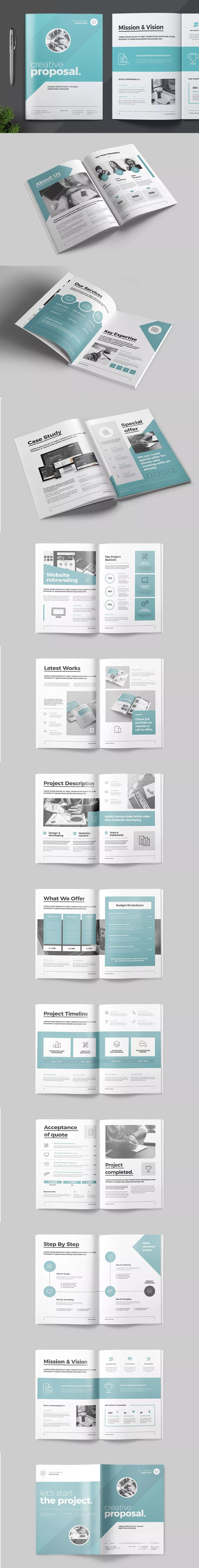 Proposal Template InDesign INDD - A4 | Proposal Brochure Templates ...