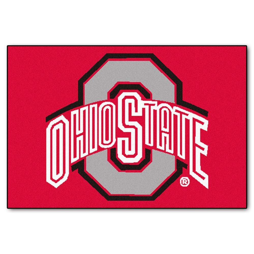 Fanmats Ncaa Ohio State University Red 2 Ft X 3 Ft Indoor Area Rug 1515 In 2020 Ohio State University Ohio State Buckeyes Ohio
