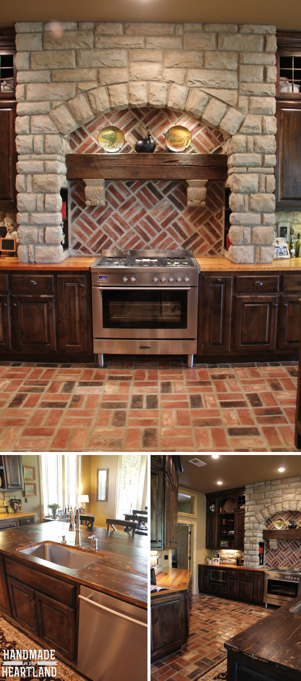 Show Me Your Space Rustic Custom Home Brick floor