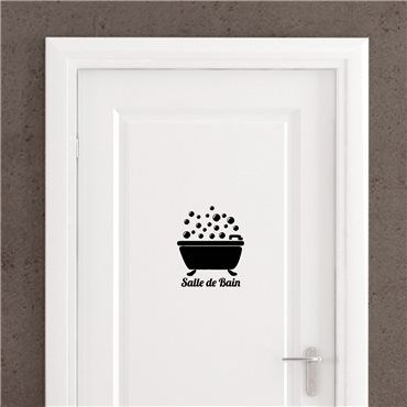 Sticker Porte Salle De Bain Bain Bulles In 2018 Logo Pinterest