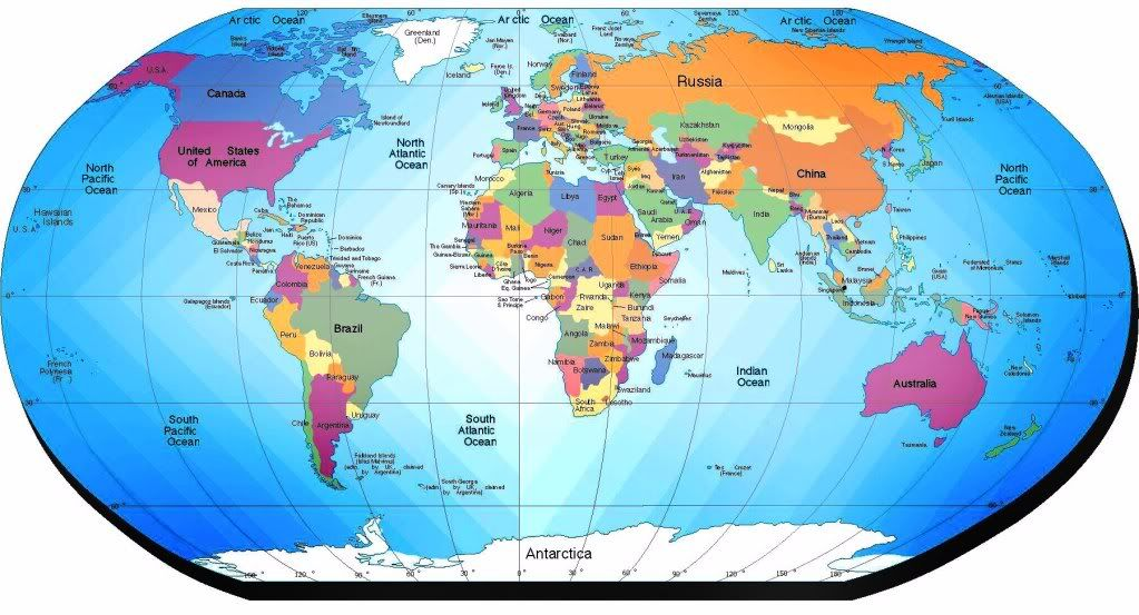 Map Of The Whole World | ... Taking the Whole Gospel of God ...