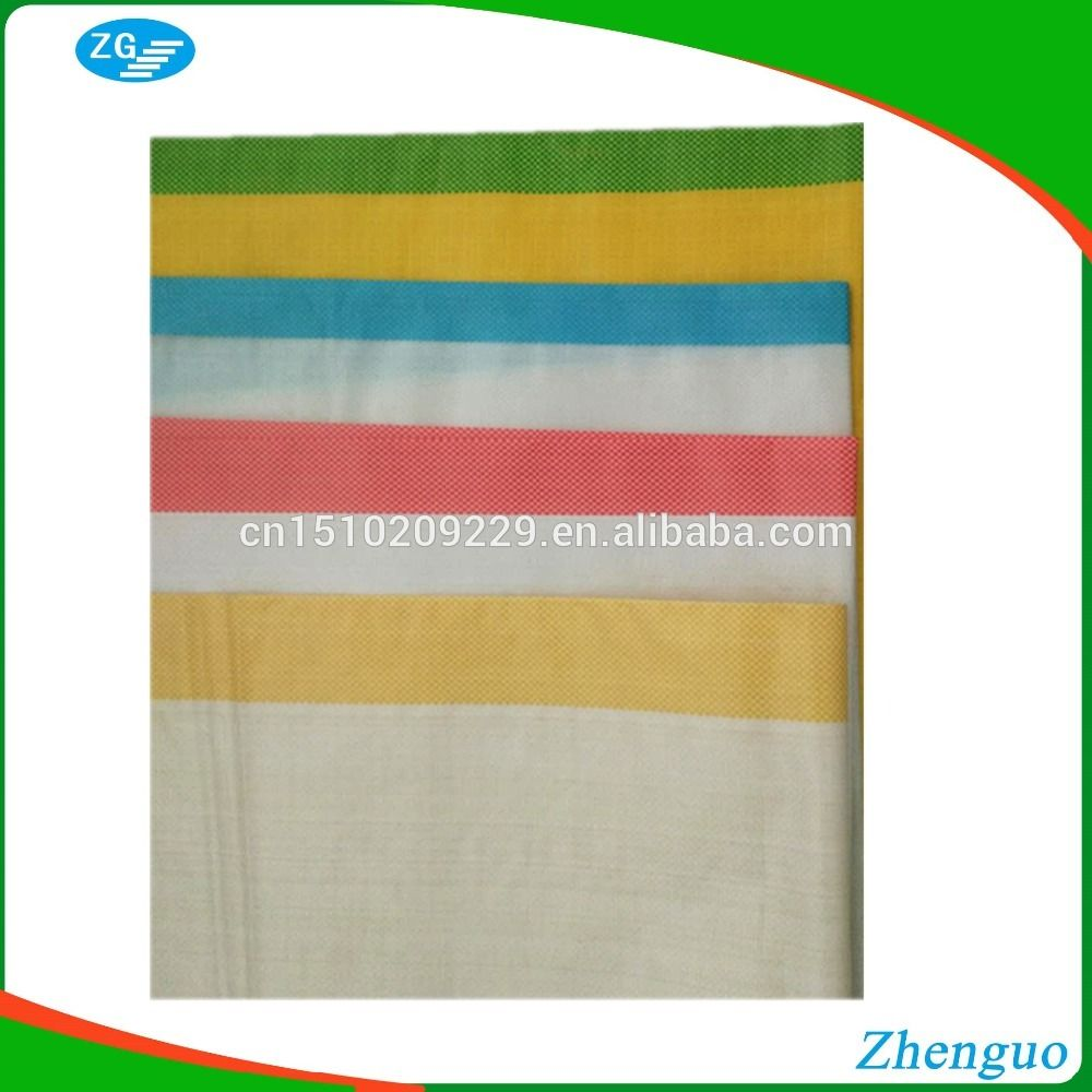 Pp woven food seed feed fertilizer bags with blue red yellow also green