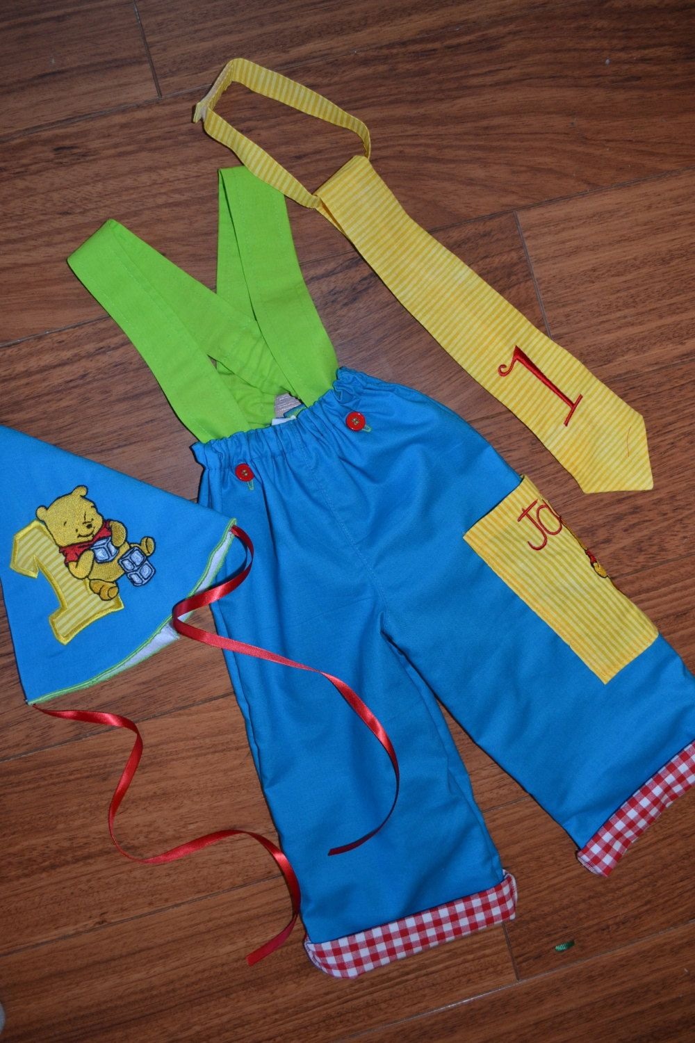 Winnie the Pooh boys birthday outfit 1st birthday outfit