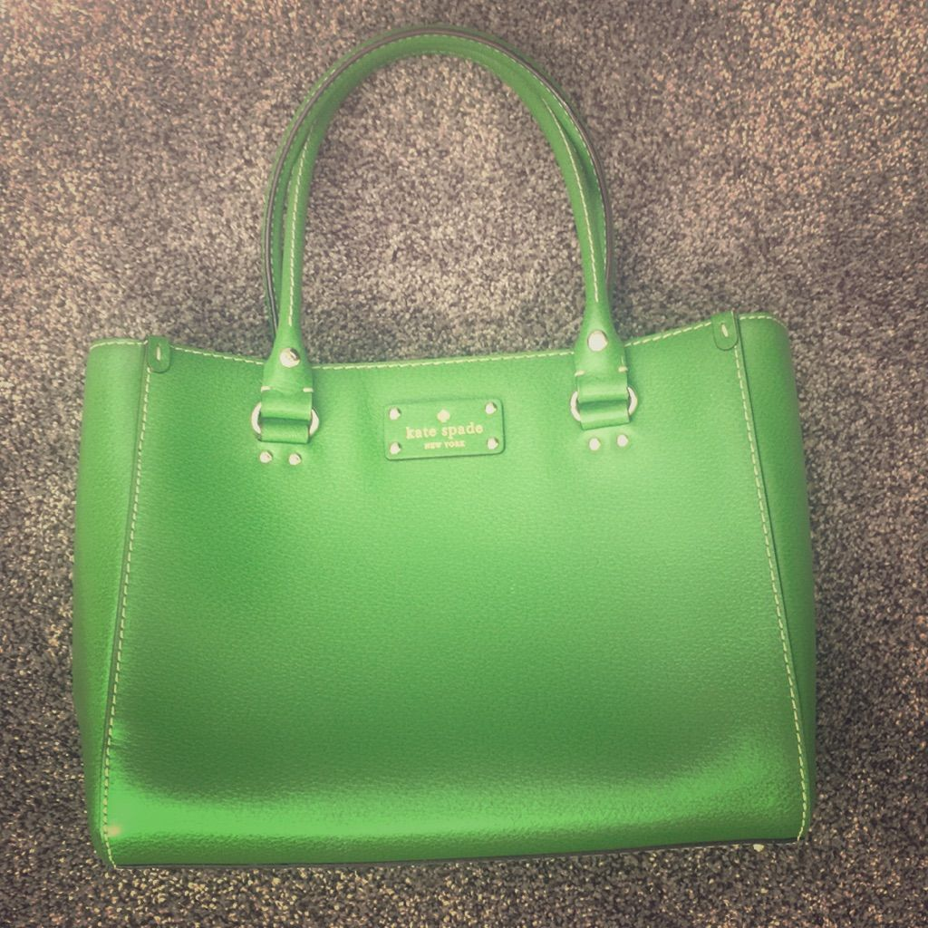 Kate Spade Lime Green Purse Limes Stains