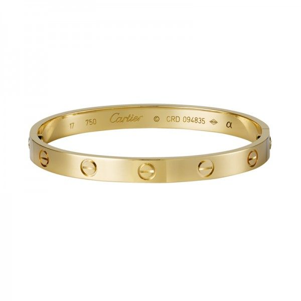 10 Iconic Pieces of Jewelry That Will Never Go Out of Style   The Zoe Report  Love Bracelet in Yellow Gold, Cartier $6600