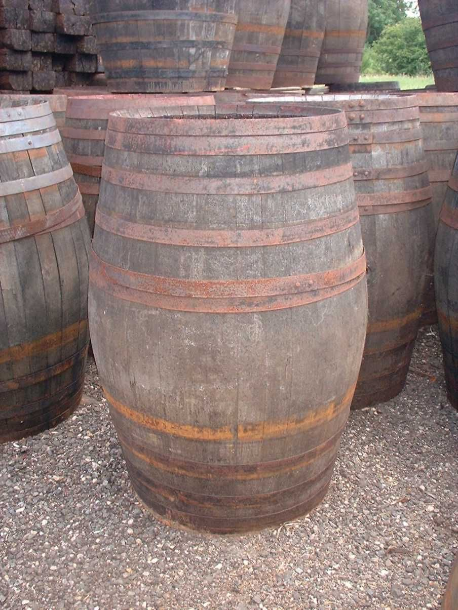 Great Wooden Whisky Barrels Ideal For Poseur Table On In Pairs With A Table Plank  For Bar,
