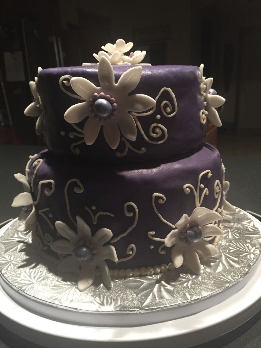Wedding cakes chocolate and vanilla swirl