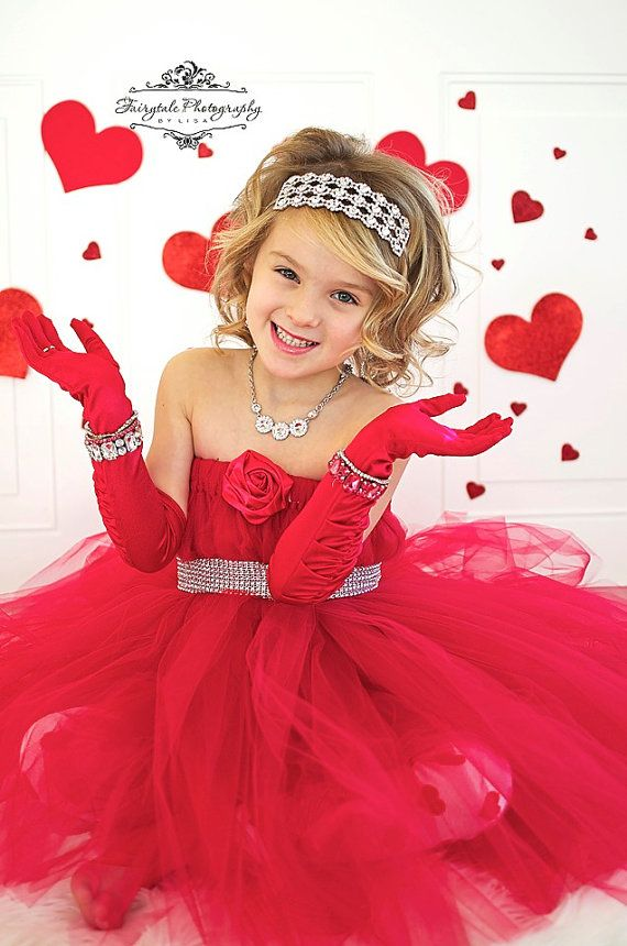 """Valentine/""""s day pink girl dress /& pink sash match headband party wedding outfit"""