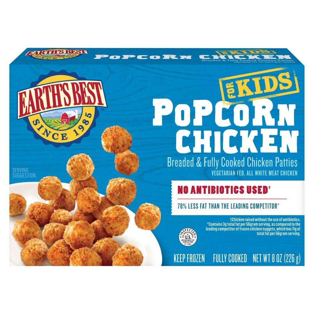 Earths best frozen popcorn chicken 8oz adult unisex