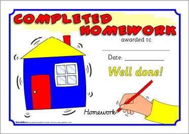 Homework Certificates Sb Sparklebox