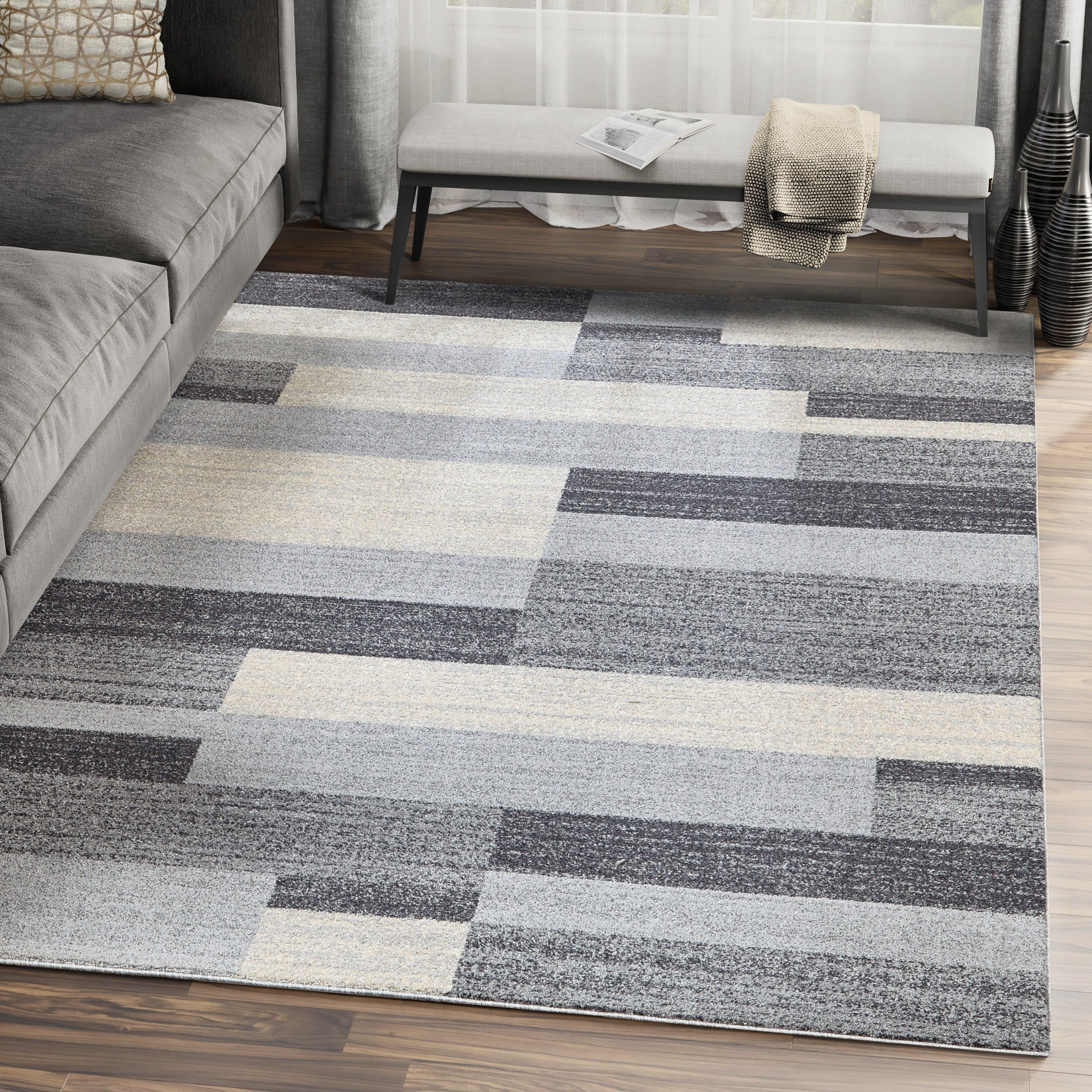 Best Grey Beige Geometric Tiles Area Rug 5 X 8 Grey Gray 400 x 300
