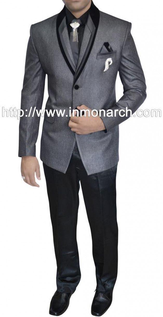 Grey Polyester 7 pc Tuxedo Suit Itemcode :TX11303R