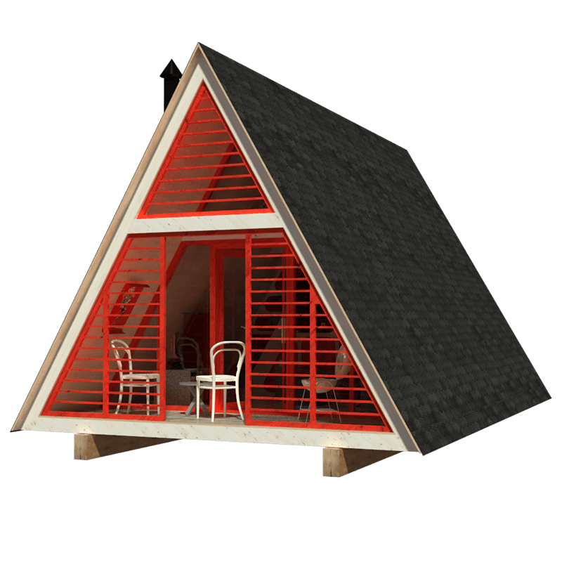 A-Frame Cabin Plans | Building costs, Cabin and Construction