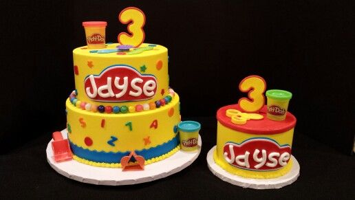 Sensational Play Doh Theme Birthday Cake Playdough Party Combined Birthday Personalised Birthday Cards Veneteletsinfo