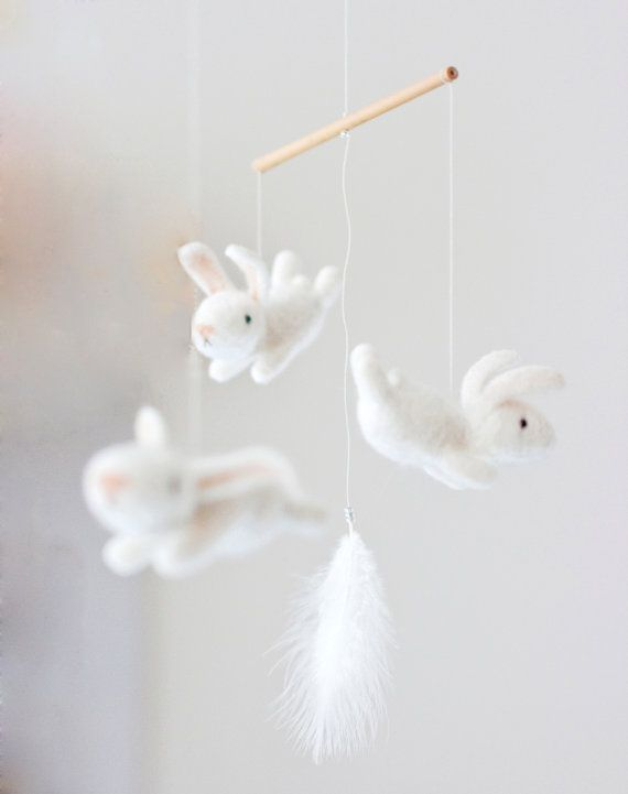 Bunny Mobile Crochet Baby Crib Mobile Baby Cribs Nursery