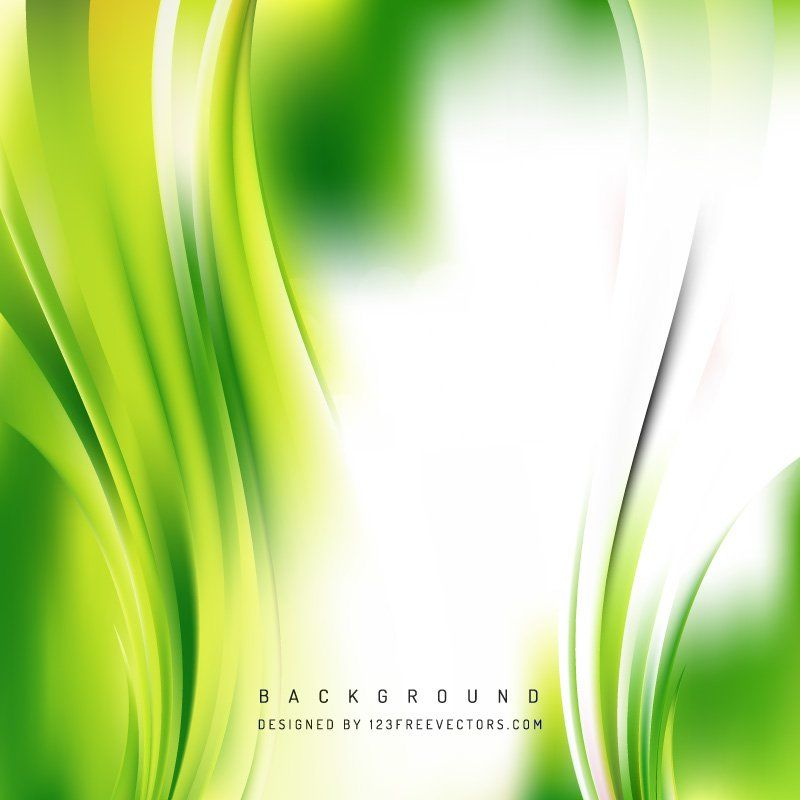 White Green Wave Background Template Waves Background