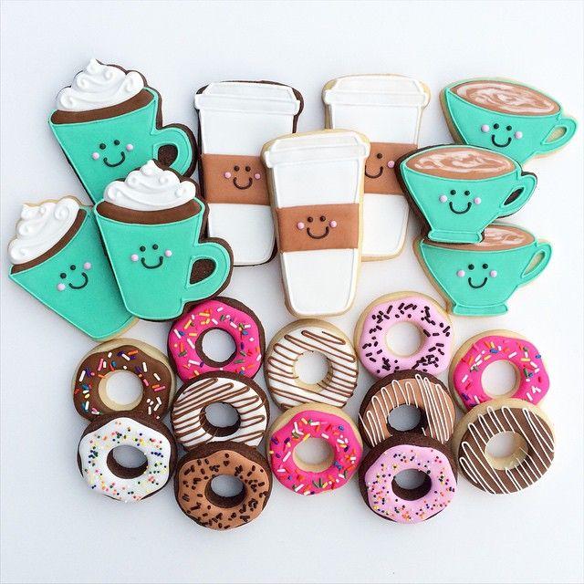 Thanks A Latte! #latte #coffee #donuts #sugarcookies