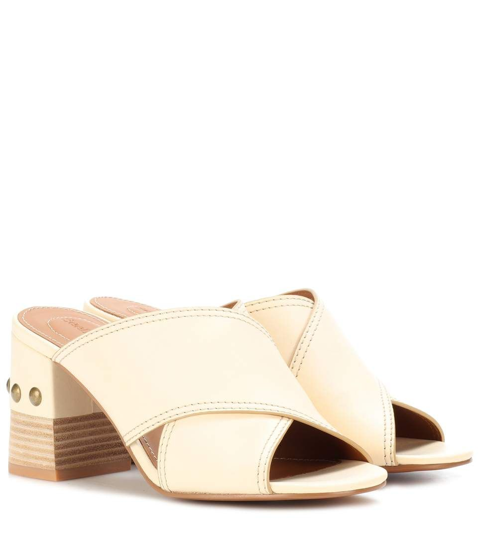See By Chloé Studded leather sandals  a21fa46820b