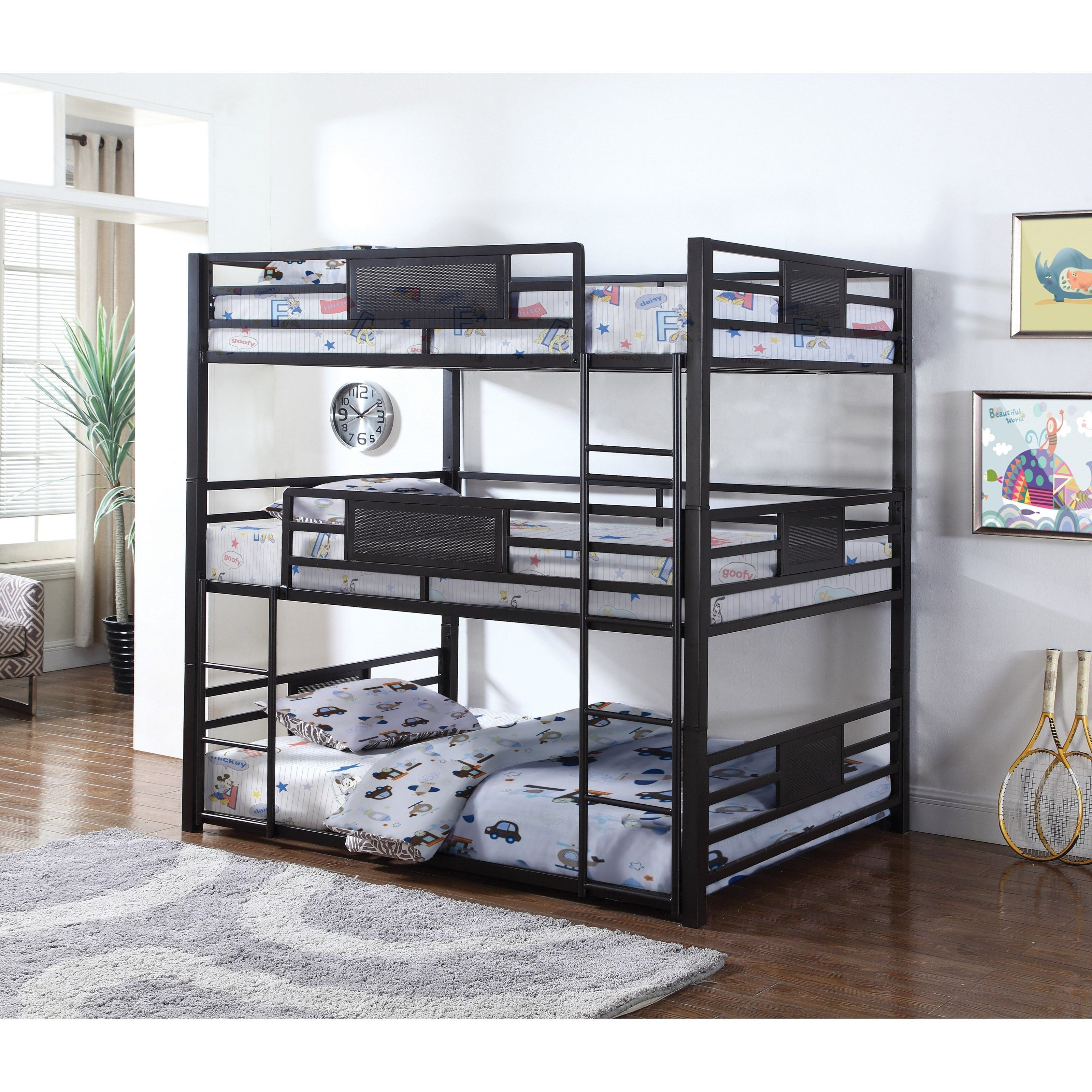 Gia Metal Twin or Full Triple Bunk Bed Crafts I like