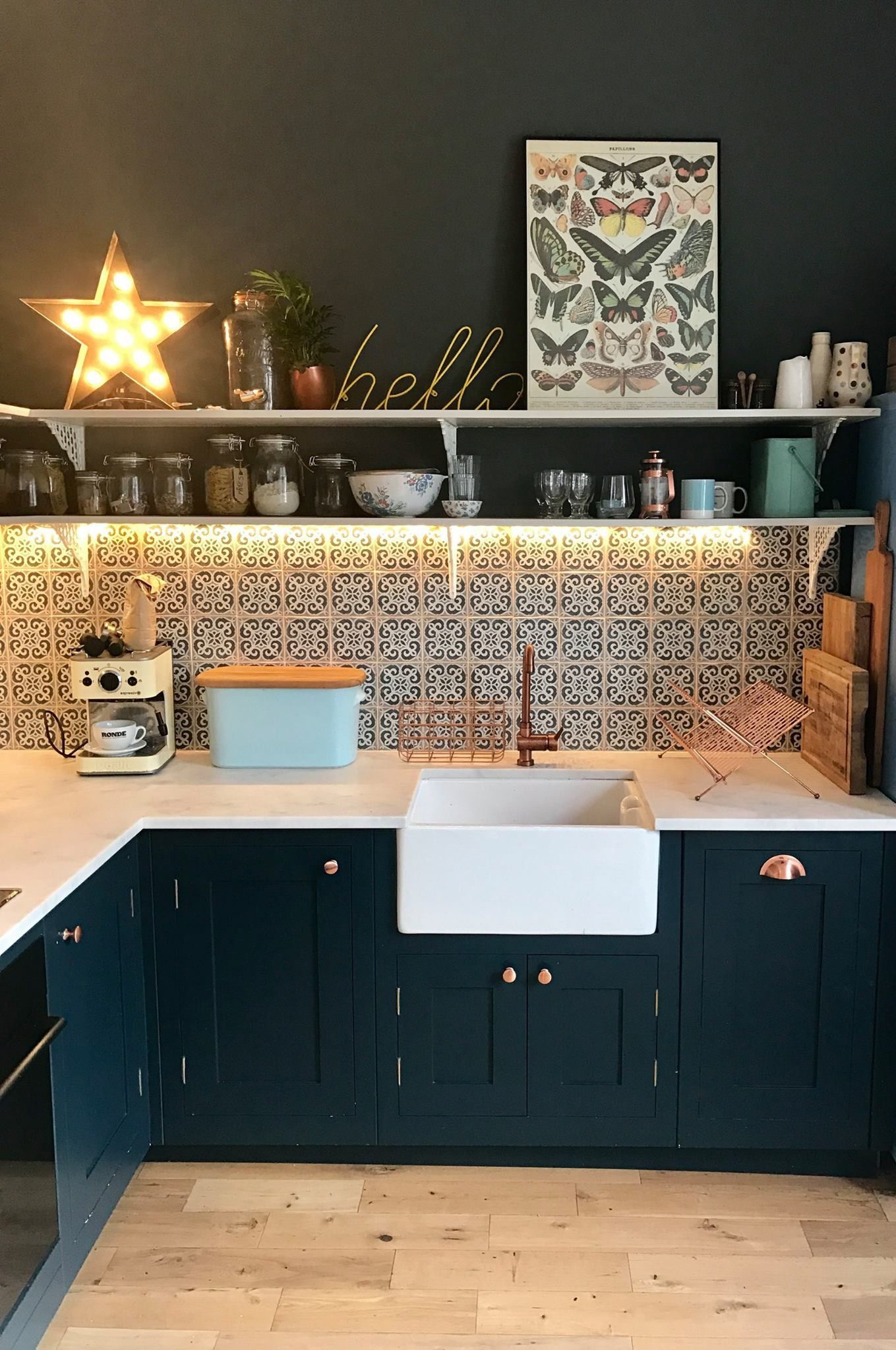 How Amazing Is That Moroccan Tiling And The Shelf Lighting