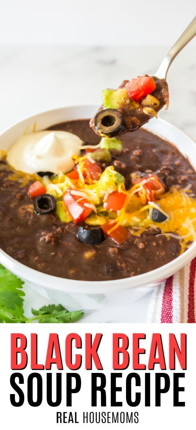 Black Bean Soup is an easy, heart-healthy meal. Made with ...