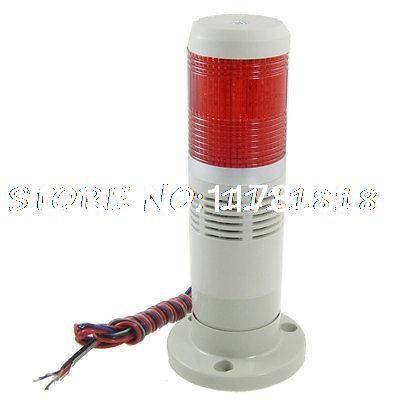 Industrial Red Tower Lamp Buzzer Alarm Warning Stack Light 12v Dc Lamp Light Buzzer