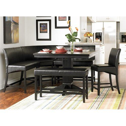 CENTURY CITY MODERN CORNER COUNTER HEIGHT DINING TABLE