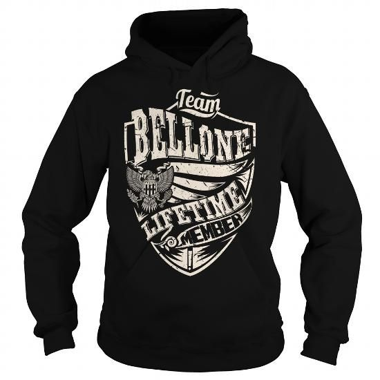 Cool Last Name, Surname Tshirts - Team BELLONE Lifetime Member Eagle T-Shirts