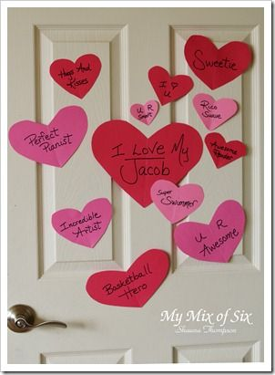 Heart Attack Someone S Door On Valentines Day With Things You Love About Them Such A Cute Idea Hearts Valentines Surprise Valentines Valentine Day Love