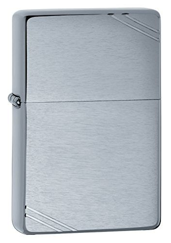 Zippo Vintage Brushed Chrome Lighter Brushed Chrome Finishflint Windproof This Is An Amazon Affiliate Link Learn More By Vintage Brush Zippo Lighter Zippo