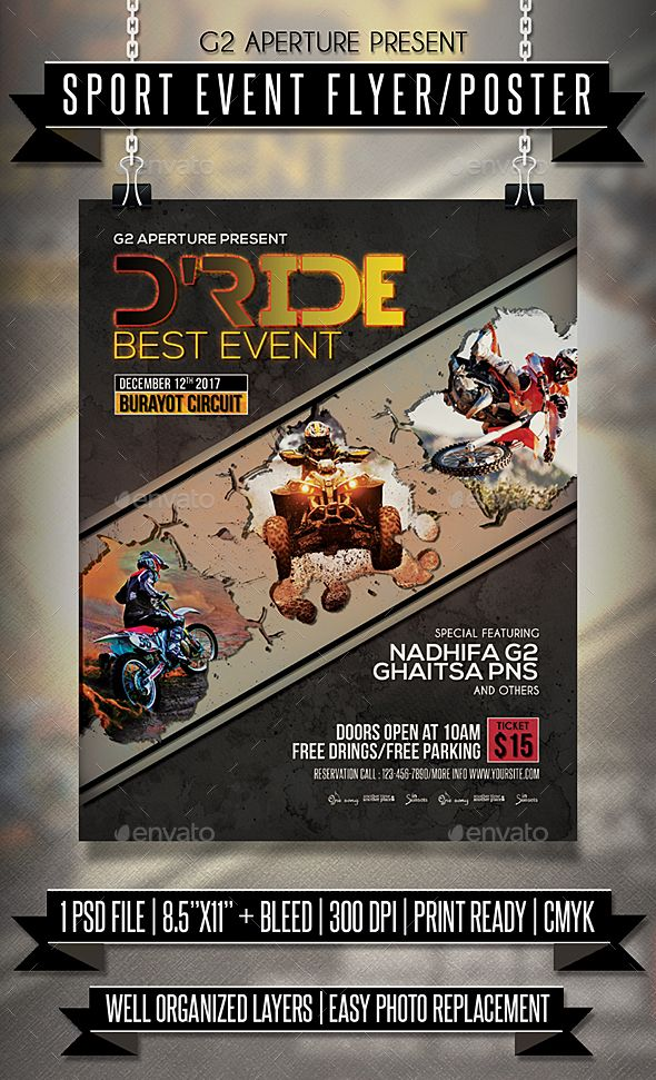 Sport Event Flyer  Poster  Event Flyers Event Flyer Templates