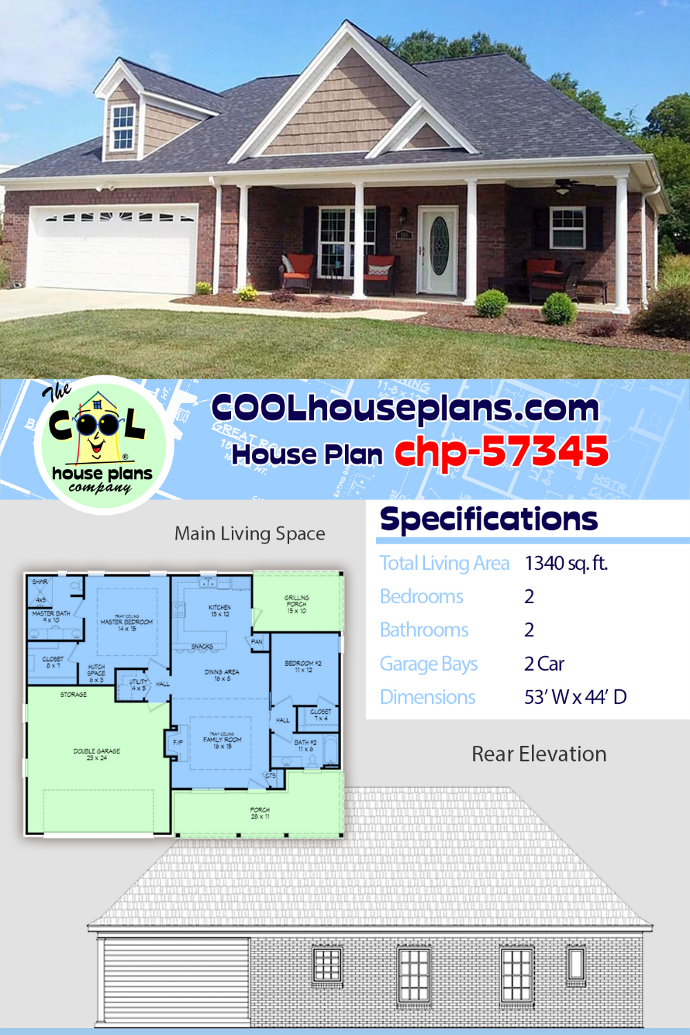 House Plan Chp 57345 At Coolhouseplans Com House Plans Family House Plans Architect House