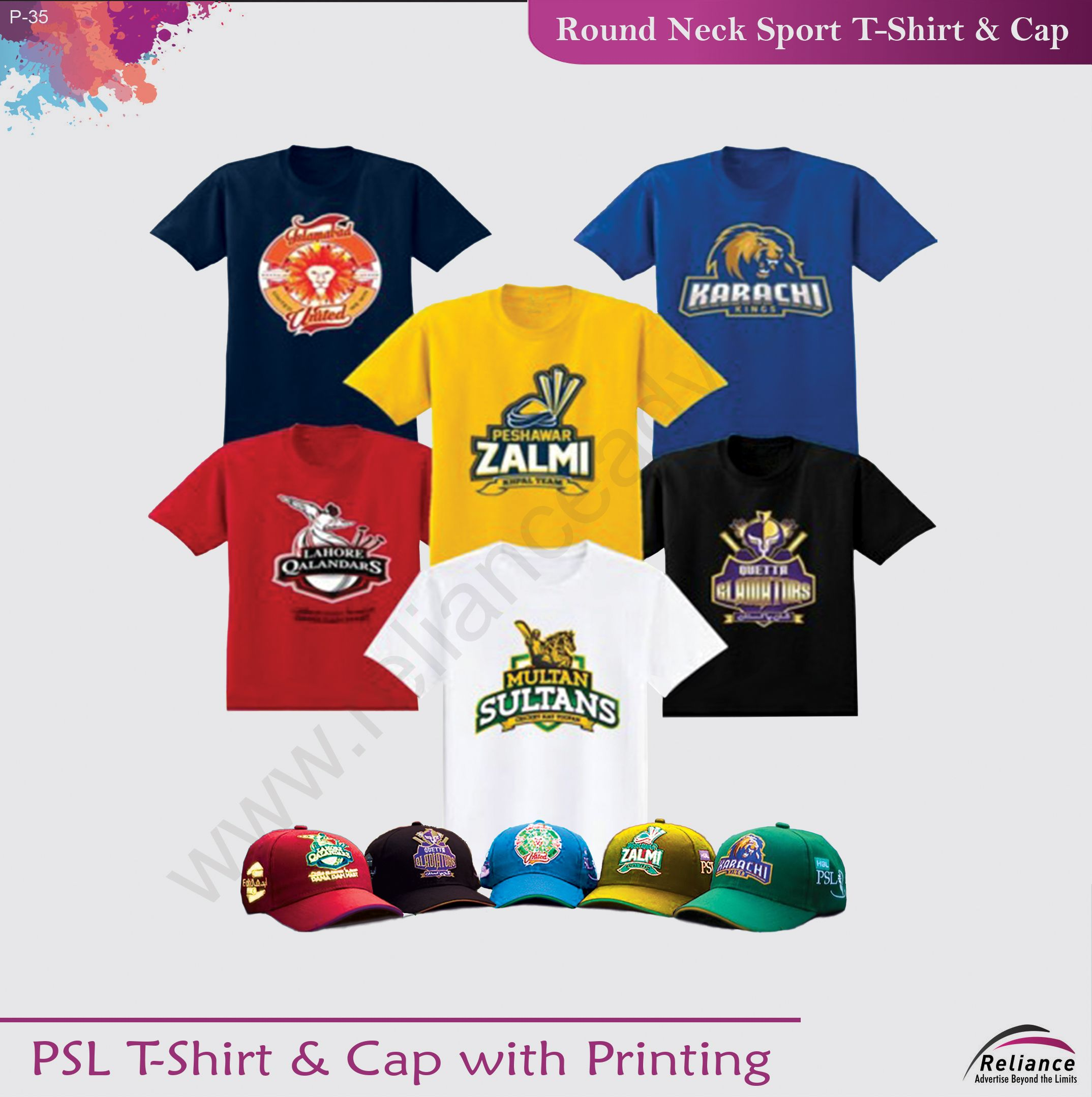 Discover our PSL T-Shirt & Cap with Printing