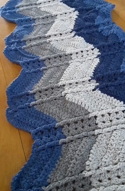 Shell and Post Stitch Ripple Afghan | Crochet | Pinterest | Tejido