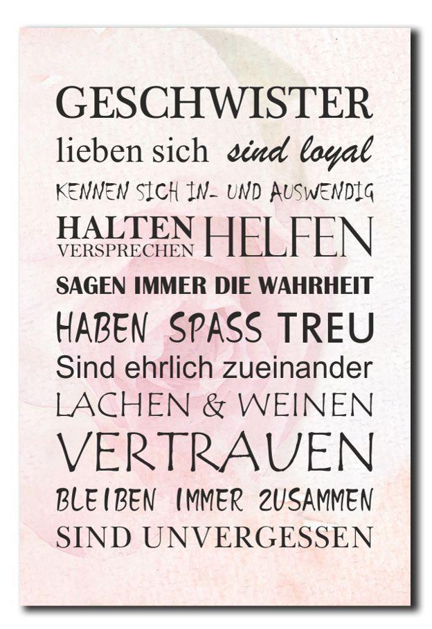 Details Zu Geschwister Schwester Deko Schild Wandschild Dekoschild