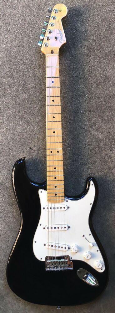 2008 Fender Stratocaster American Standard Maple Neck USA Black SSS #Fender #fenderstratocaster
