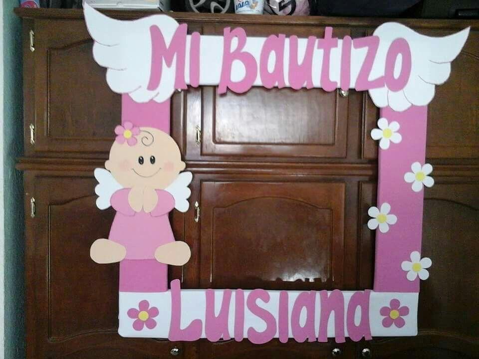 cfa74856b Cuadro bautizo | Holiday crafts! | Recuerdos bautizo niña, Marcos ...