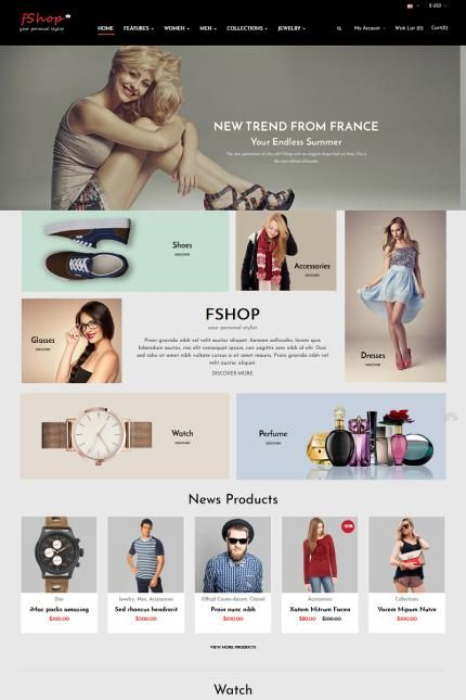Personal Stylist & Online Store #OpenCart #webtemplate #themes ...