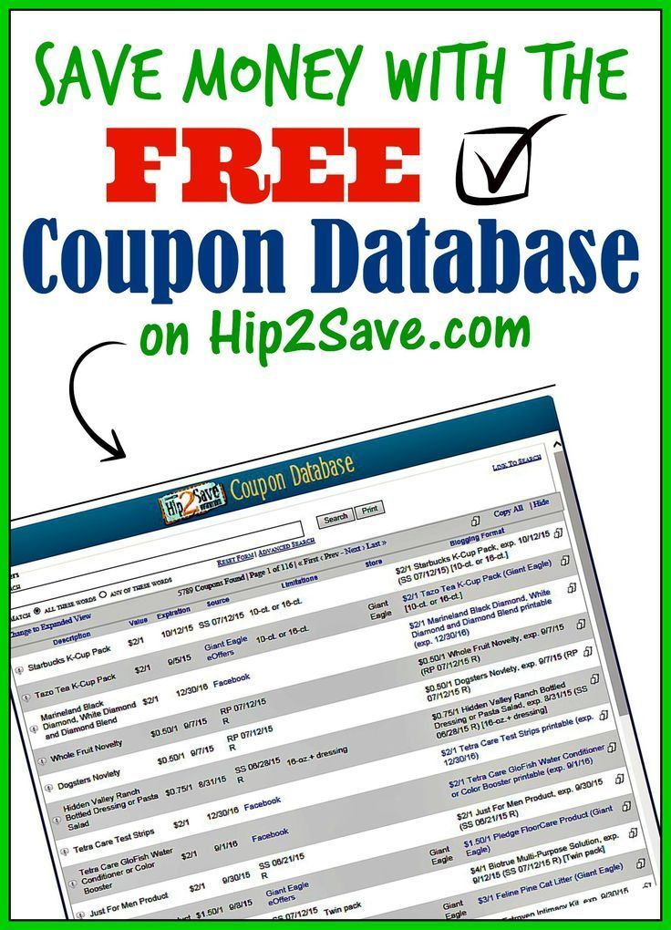 an extensive coupon database from hip2savecom discover great deals and coupons with this wonderful and free tool