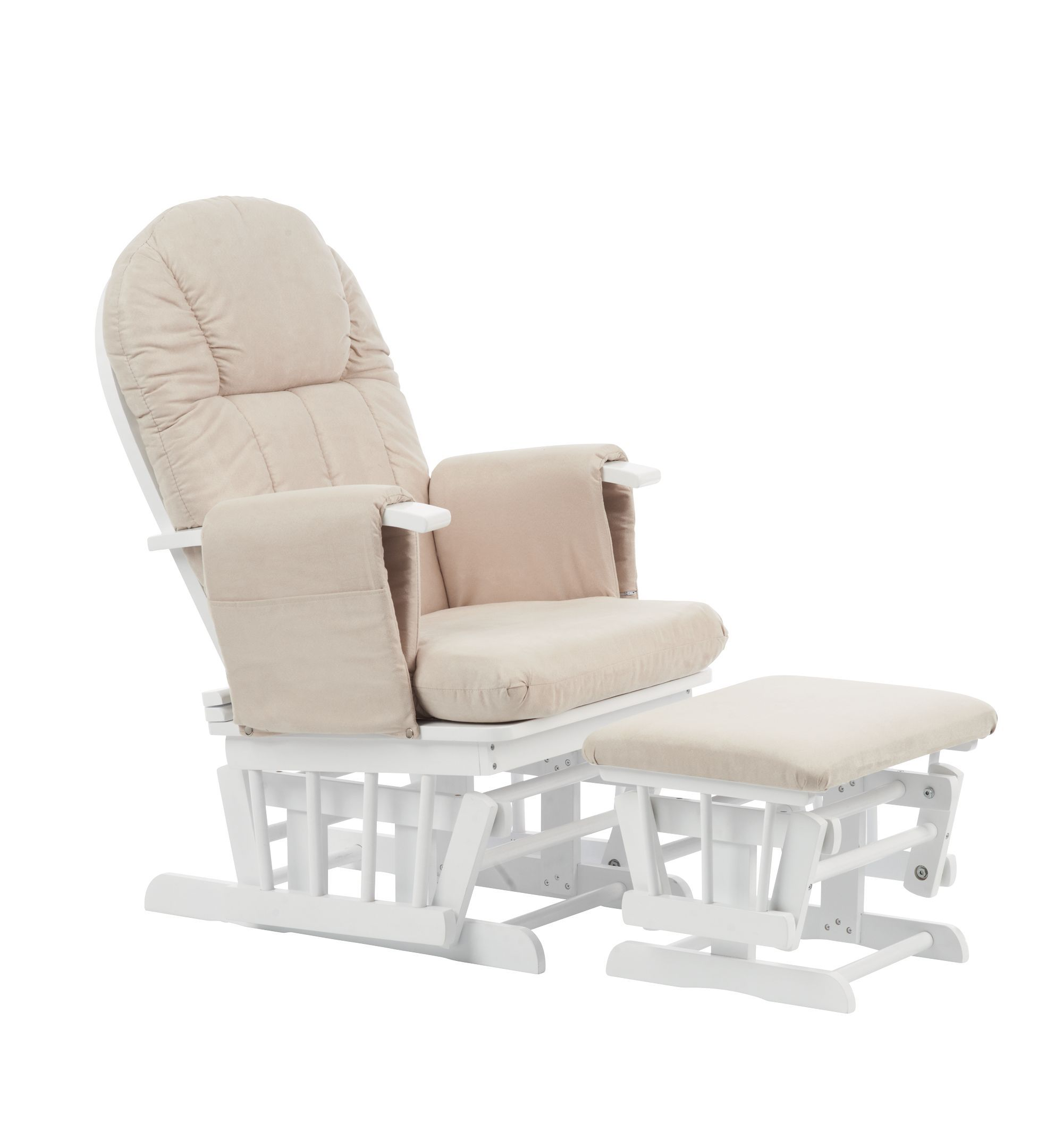 Mothercare Reclining Glider Chair White Baby rocking