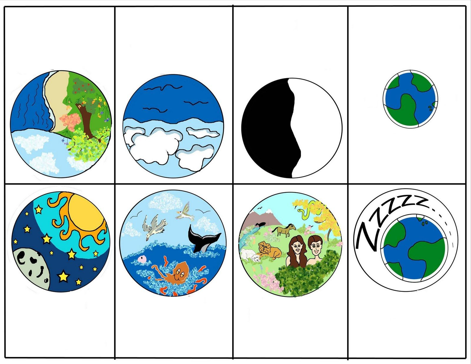 Creation Story Clip Art Escola Dominical
