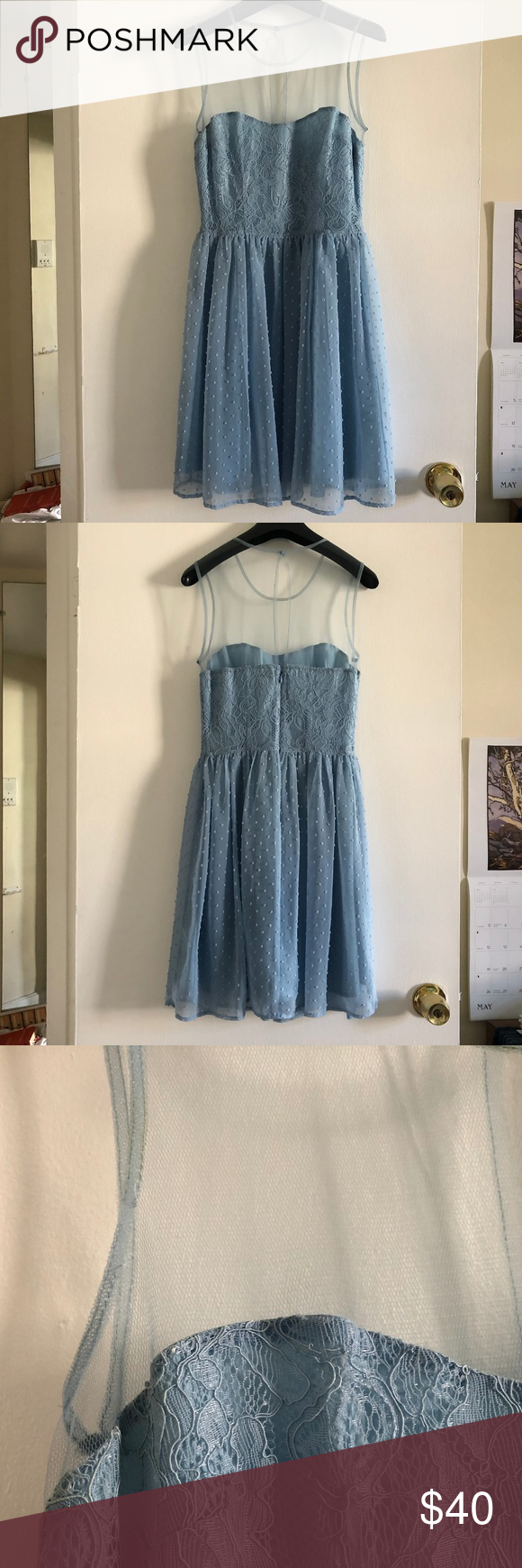 Rodarte For Target Blue Lace Swiss Dot Dress Swiss Dot Dress Light Blue Dresses Blue Lace [ 1740 x 580 Pixel ]