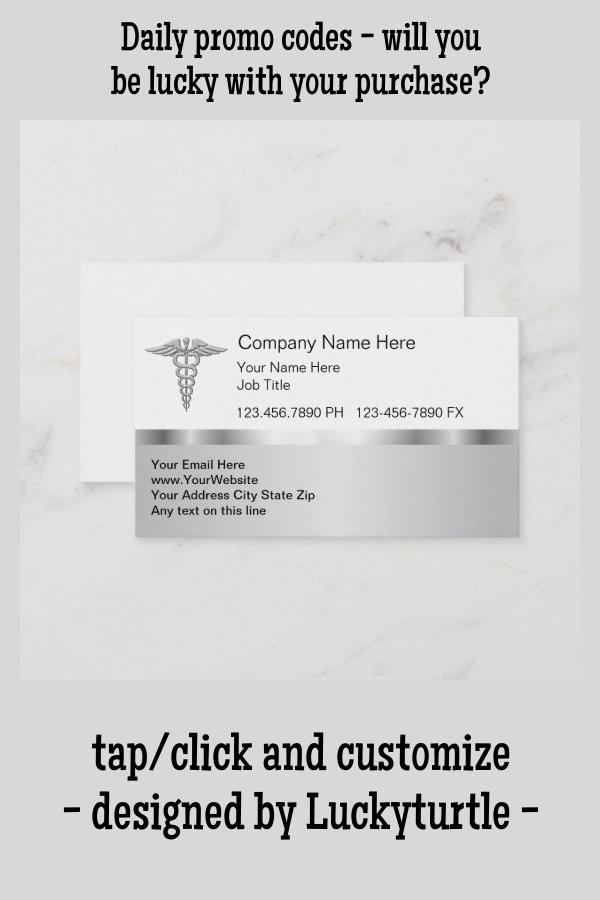Classy Medical Business Cards Zazzle Com Medical Symbols