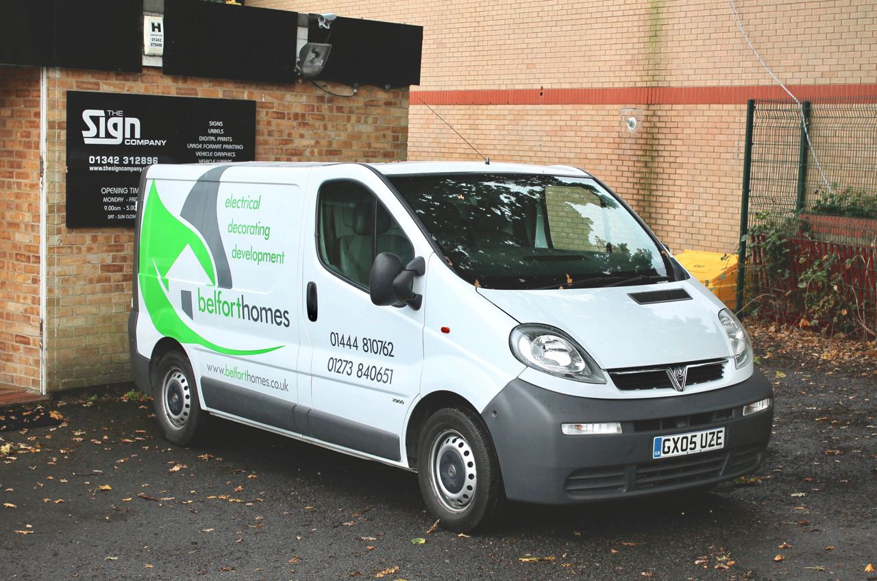 7a0148ac63 ... The Sign Company. Cut Vinyl Vehicle Graphics for Belfort Homes   vehiclegraphics  graphics  livery  vans