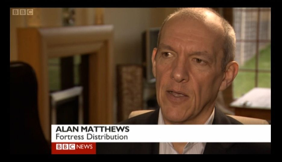 Fortress Distribution and Black Mamba Gloves featuring on the BBC 1pm News