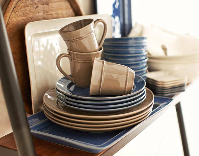 Our Cambria Dinnerware In Mushroom Ocean And Other Rich