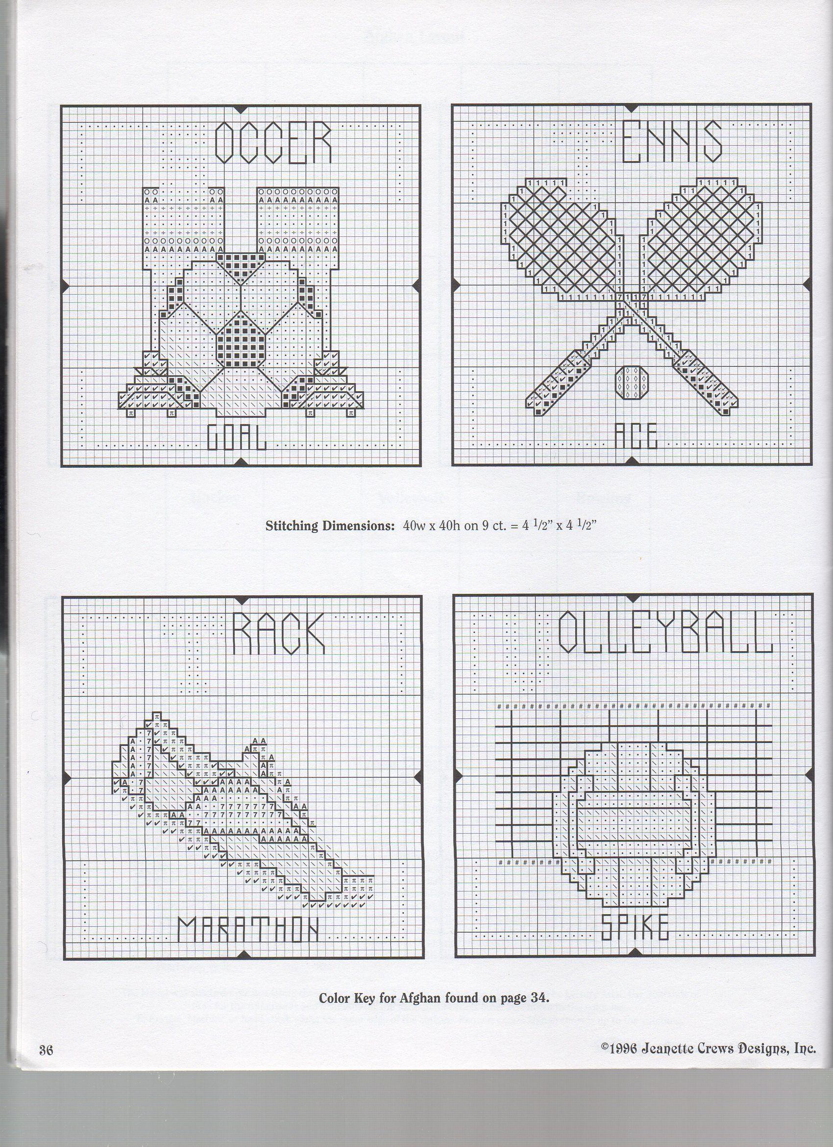 SPORTS MOTIFS   Cross stitch sports   Pinterest   Stickvorlagen ...
