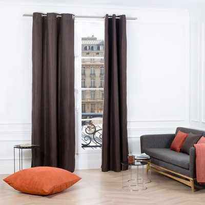 Madura Coconut Solid Color Room Darkening Grommet Curtain Panel Panel Curtains Striped Room Curtains