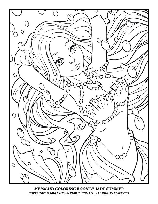 Jade Summer Free Pages Mermaid coloring pages, Fairy